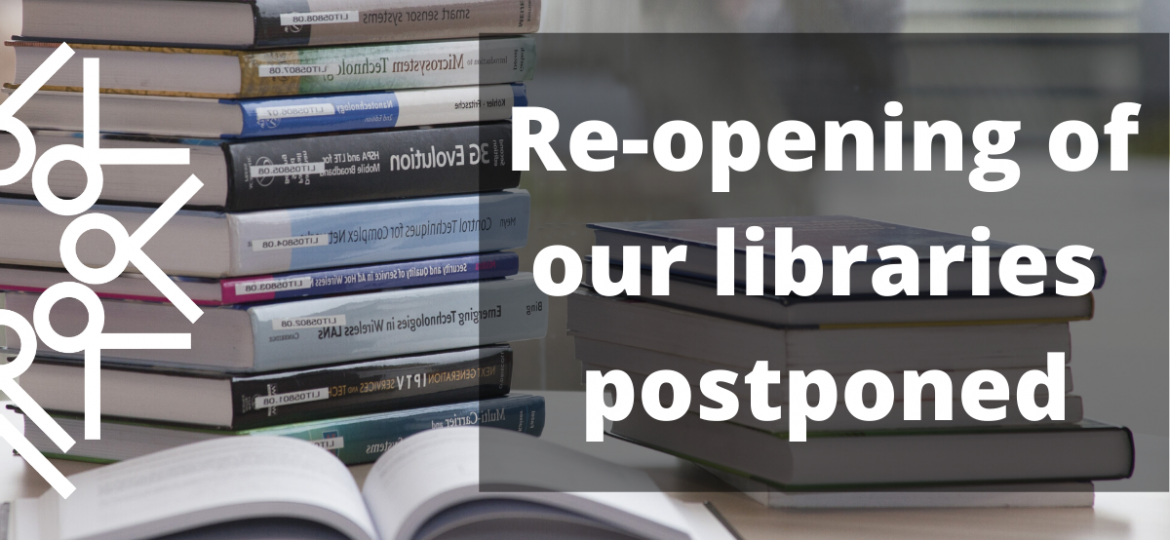 library re-opening postponed