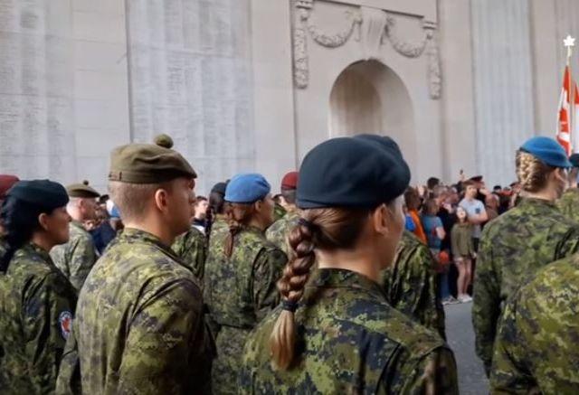 Source - Nieuws Leuven 2017-07-14 Last Post Leper Belgium Armed Forces Canada